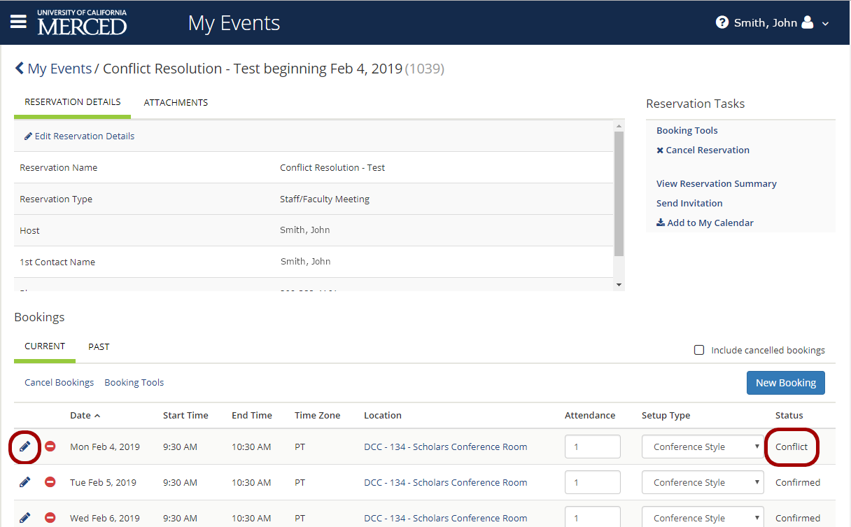 Resolve Bookings With A Quot Conflict Quot Status On The Web App